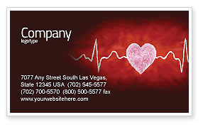 Heartbeat Business Card Template, 04504, Medical — PoweredTemplate.com