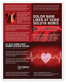 Medical: Heartbeat Flyer Template #04504