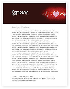 Medical: Heartbeat Letterhead Template #04504