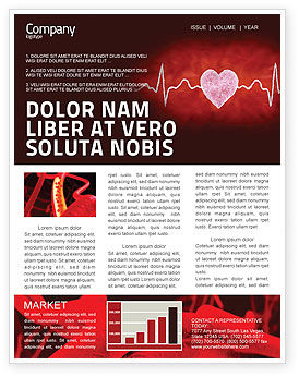 Medical: Heartbeat Newsletter Template #04504