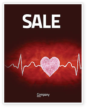Heartbeat Sale Poster Template, 04504, Medical — PoweredTemplate.com