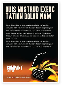 Careers/Industry: Movie Clapper Ad Template #04505