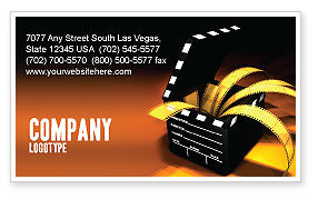 Movie Clapper Business Card Template, 04505, Careers/Industry — PoweredTemplate.com