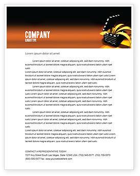 Movie Clapper Letterhead Template, 04505, Careers/Industry — PoweredTemplate.com
