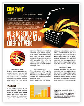 Careers/Industry: Movie Clapper Newsletter Template #04505