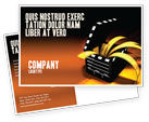 Careers/Industry: Movie Clapper Postcard Template #04505