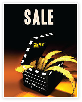 Movie Clapper Sale Poster Template, 04505, Careers/Industry — PoweredTemplate.com