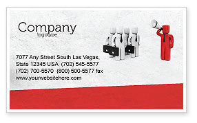 Commander Business Card Template, 04506, Consulting — PoweredTemplate.com