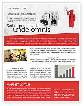 Commander Newsletter Template, 04506, Consulting — PoweredTemplate.com