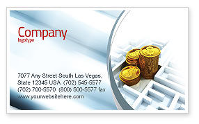 Financial/Accounting: Making Money Business Card Template #04511