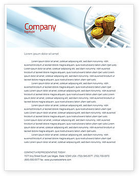 Making Money Letterhead Template, 04511, Financial/Accounting — PoweredTemplate.com