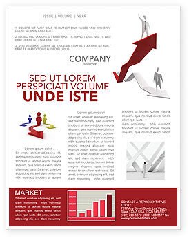Enhancing Careers Newsletter Template, 04512, Consulting — PoweredTemplate.com