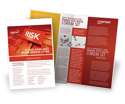 Risk Block Brochure Template, 04516, Business — PoweredTemplate.com