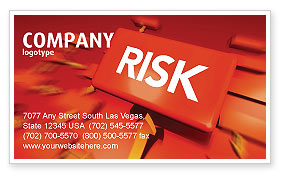 Business: Risk Block Business Card Template #04516