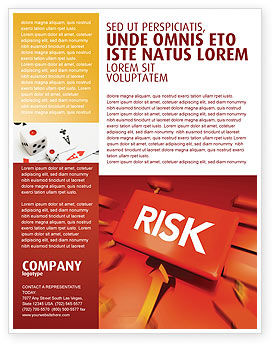 Risk Block Flyer Template, 04516, Business — PoweredTemplate.com