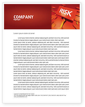 Business: Risk Block Letterhead Template #04516