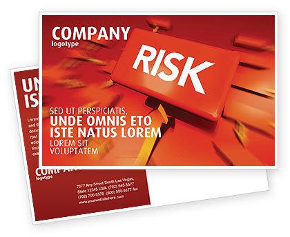 Risk Block Postcard Template, 04516, Business — PoweredTemplate.com