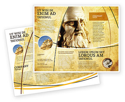 Leonardo Da Vinci Brochure Template, 04517, Education & Training — PoweredTemplate.com