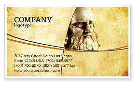 Leonardo Da Vinci Business Card Template