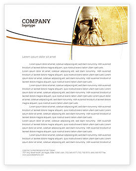 Leonardo Da Vinci Letterhead Template, 04517, Education & Training — PoweredTemplate.com