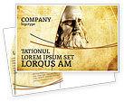 Education & Training: Leonardo Da Vinci Postcard Template #04517