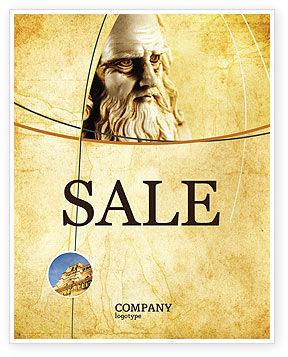 Leonardo Da Vinci Sale Poster Template, 04517, Education & Training — PoweredTemplate.com