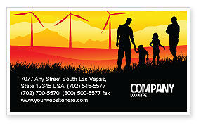 Nature & Environment: California Business Card Template #04519