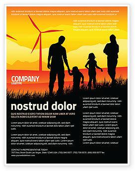 California Flyer Template, 04519, Nature & Environment — PoweredTemplate.com