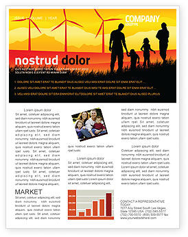 California Newsletter Template, 04519, Nature & Environment — PoweredTemplate.com