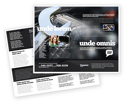 Utilities/Industrial: Auto Reparatie Brochure Template #04522
