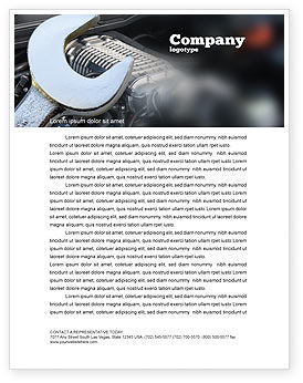Utilities/Industrial: Car Repair Letterhead Template #04522