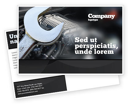 Utilities/Industrial: Car Repair Postcard Template #04522