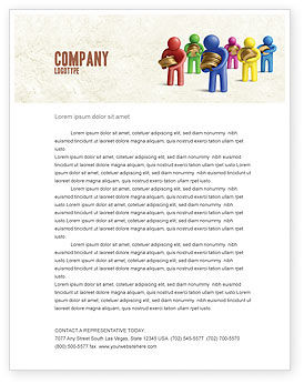 Loans Letterhead Template, 04524, Financial/Accounting — PoweredTemplate.com