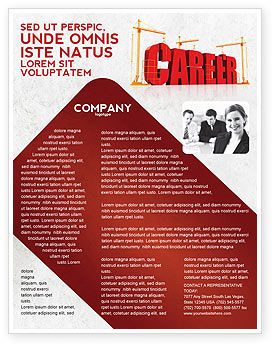 Careers/Industry: Career Building Flyer Template #04528