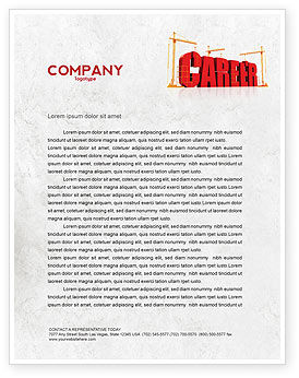 Career Building Letterhead Template, Layout for Microsoft Word