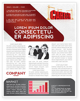 Career Building Newsletter Template, 04528, Careers/Industry — PoweredTemplate.com