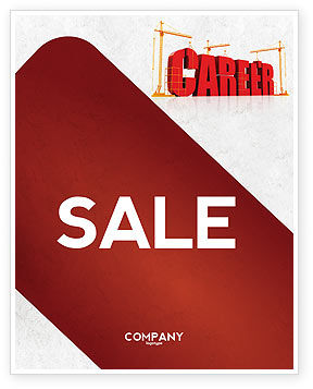 Career Building Sale Poster Template
