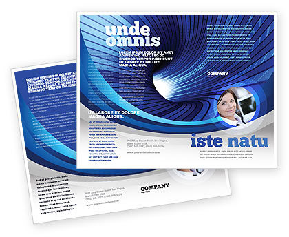 Digital Tunnel Brochure Template, 04529, Technology, Science & Computers — PoweredTemplate.com