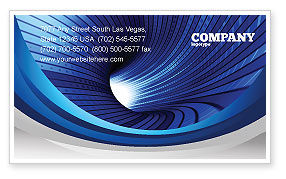 Digital Tunnel Business Card Template, 04529, Technology, Science & Computers — PoweredTemplate.com