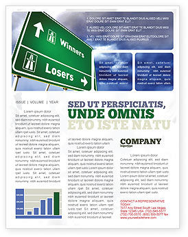Consulting: Losers and Winners Newsletter Template #04530