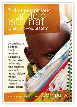 African Baby Ad Template, 04531, People — PoweredTemplate.com