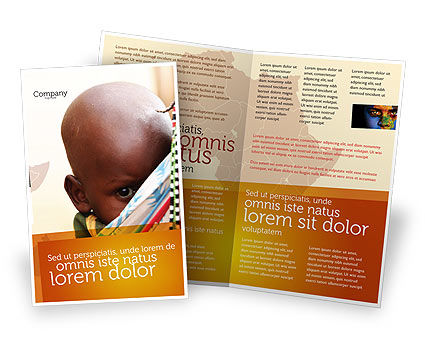 African Baby Brochure Template, 04531, People — PoweredTemplate.com