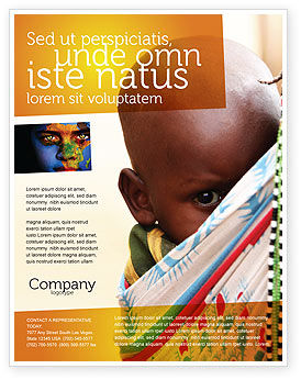 People: African Baby Flyer Template #04531