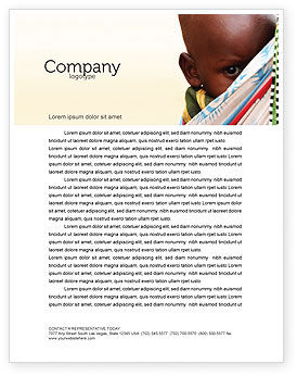 People: African Baby Letterhead Template #04531