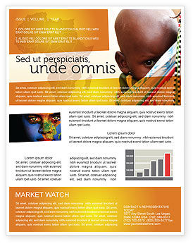 People: African Baby Newsletter Template #04531