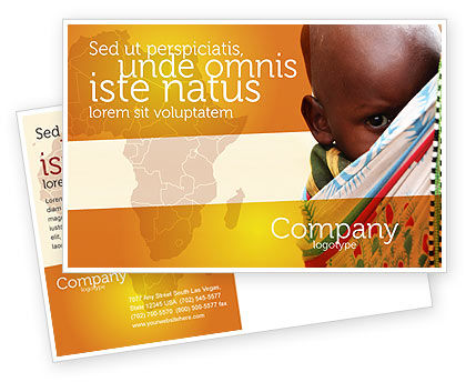 African Baby Postcard Template, 04531, People — PoweredTemplate.com