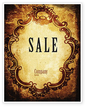 Abstract/Textures: Picture Frame Sale Poster Template #04533