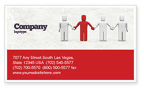 Careers/Industry: Hand In Hand Business Card Template #04534