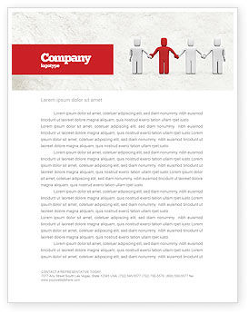 Careers/Industry: Hand In Hand Letterhead Template #04534
