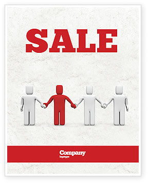 Hand In Hand Sale Poster Template, 04534, Careers/Industry — PoweredTemplate.com